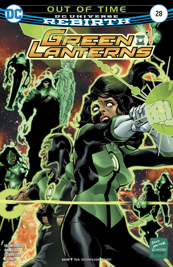 Green Lanterns #28 Cover by Brad Walker, Andrew Hennessy, and Jason Wright