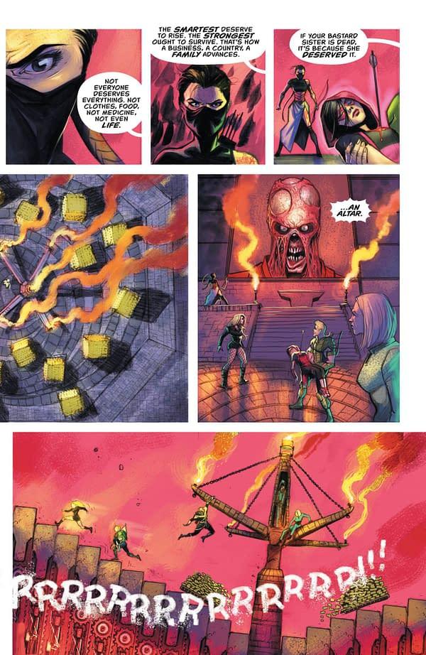 Green Arrow #37 art by Juan Ferreyra