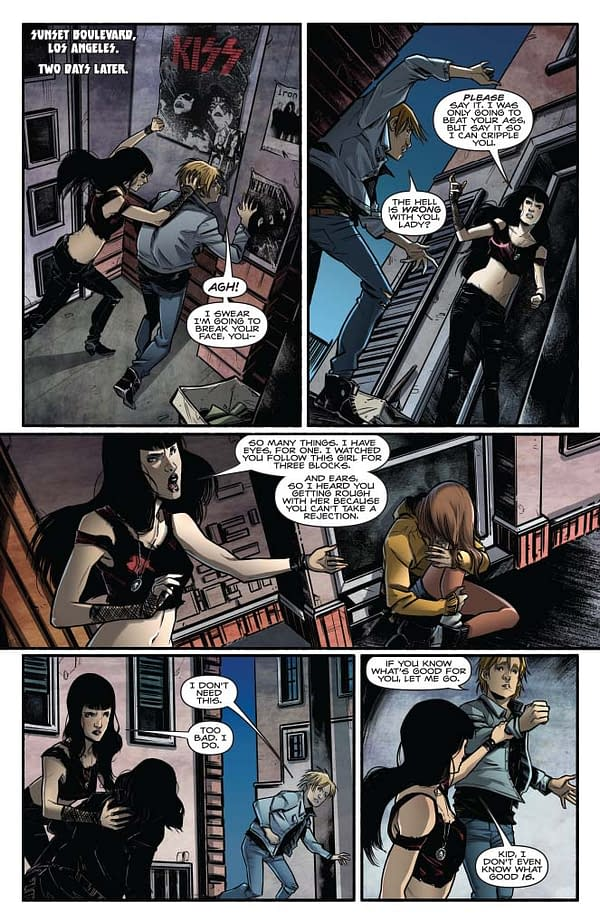 Exclusive Extended Previews of Bettie Page #8 and KISS/Army of Darkness #1