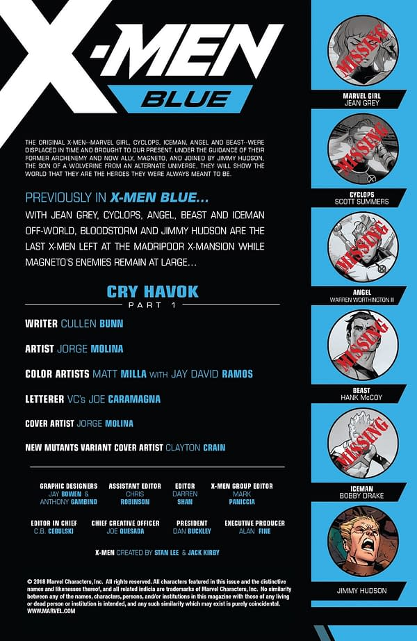 X-Men: Bland Design – X-citing X-Position X-ists in X-Men Blue #23