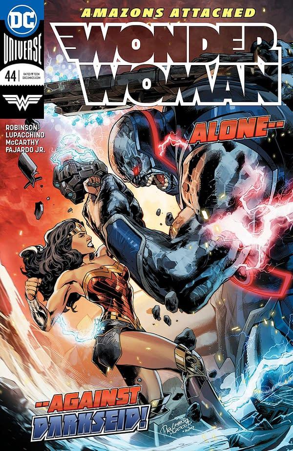 Wonder Woman #44 cover by Carlo Pagulayan, Jason Paz, and Romulo Fajardo Jr.