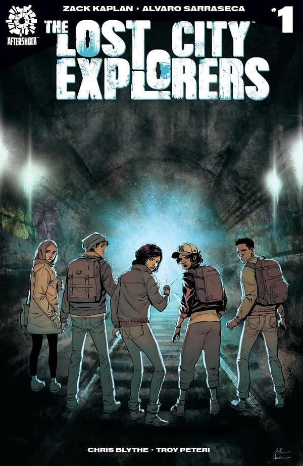 The Lost City Explorers #1 cover by Rafael de la Torre and Marcelo Maiolo