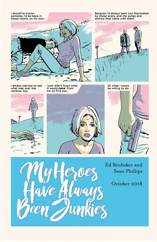Read a Teaser for Ed Brubaker and Sean Phillips's New OGN 'My Heroes Have Always Been Junkies'