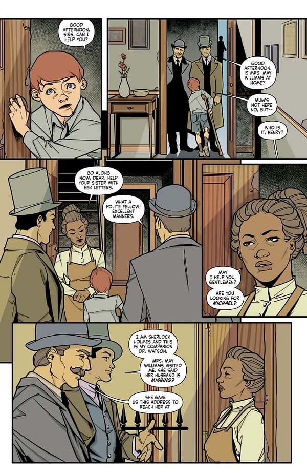 Writer's Commentary – Leah Moore Talks Sherlock Holmes: The Vanishing Man #2