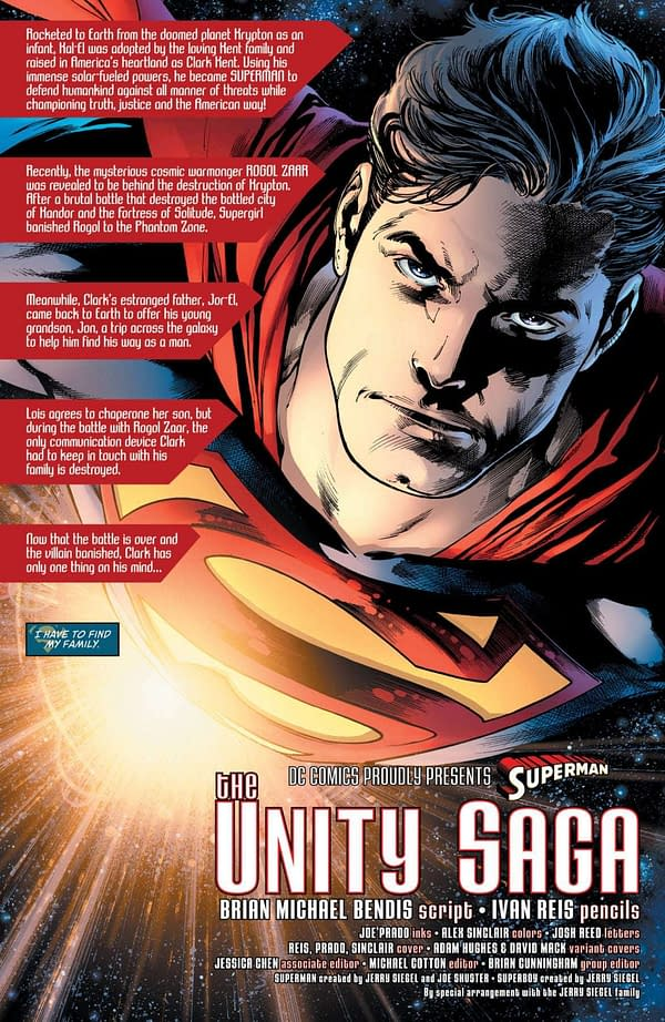 Brian Michael Bendis's First DC Comics Recap Page is in Superman #1, Out Tomorrow
