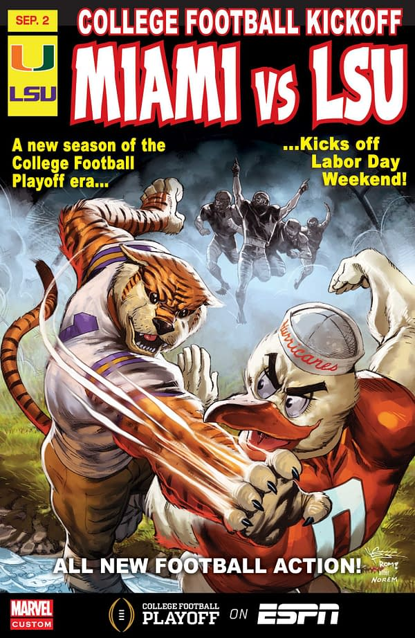 More ESPN Marvel Comics College Football Covers for 2018