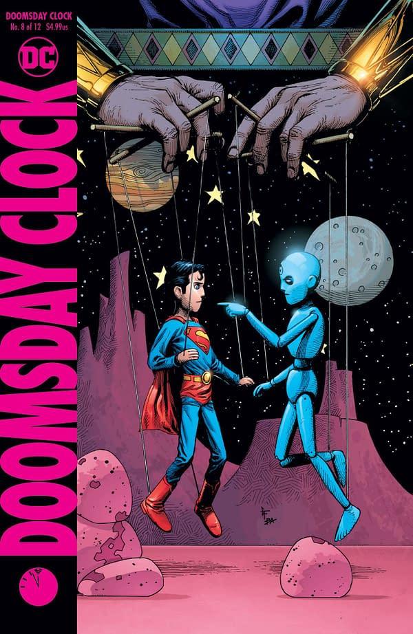 It's Superman vs. Dr Manhattan in November's Doomsday Clock