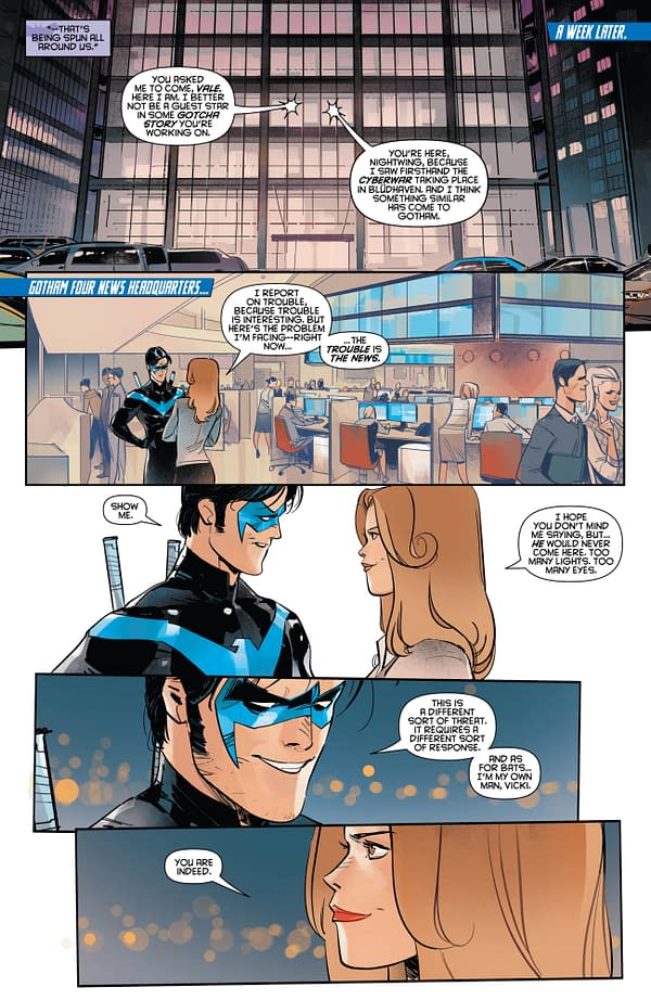 What's Nightwing Doing with Vicki Vale's Lipstick on His Face?