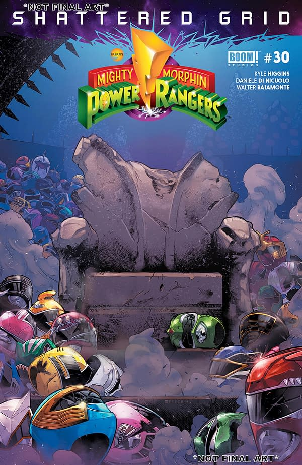 Power Rangers: Shattered Grid Penultimate Preview, Plus Dark Crystal, WWE, and More BOOM! Comics for August 15th