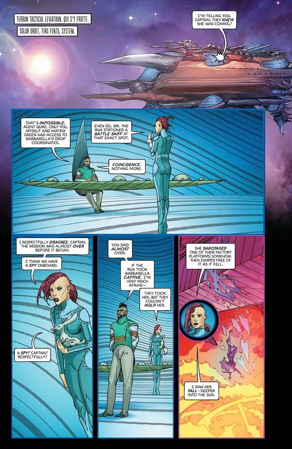 Mike Carey's Writer's Commentary on Barbarella #10