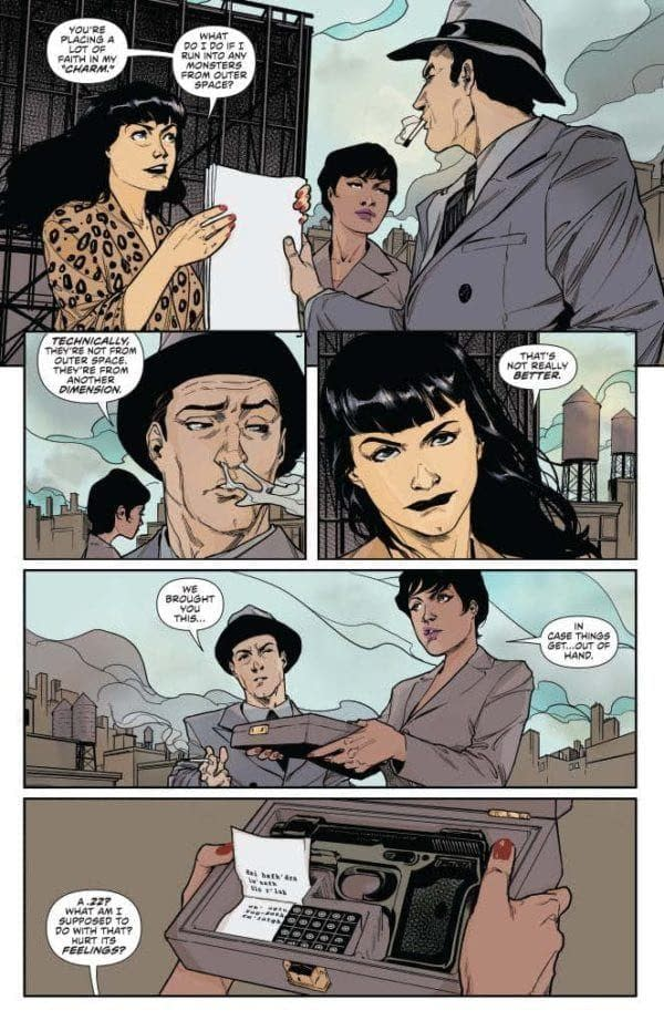 David Avallone's Writer's Commentary on Bettie Page Hallowe'en Special