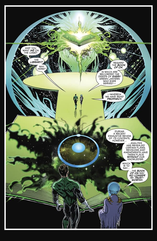 Was That Dr Manhattan in Grant Morrison and Liam Sharp's The Green Lantern #1?