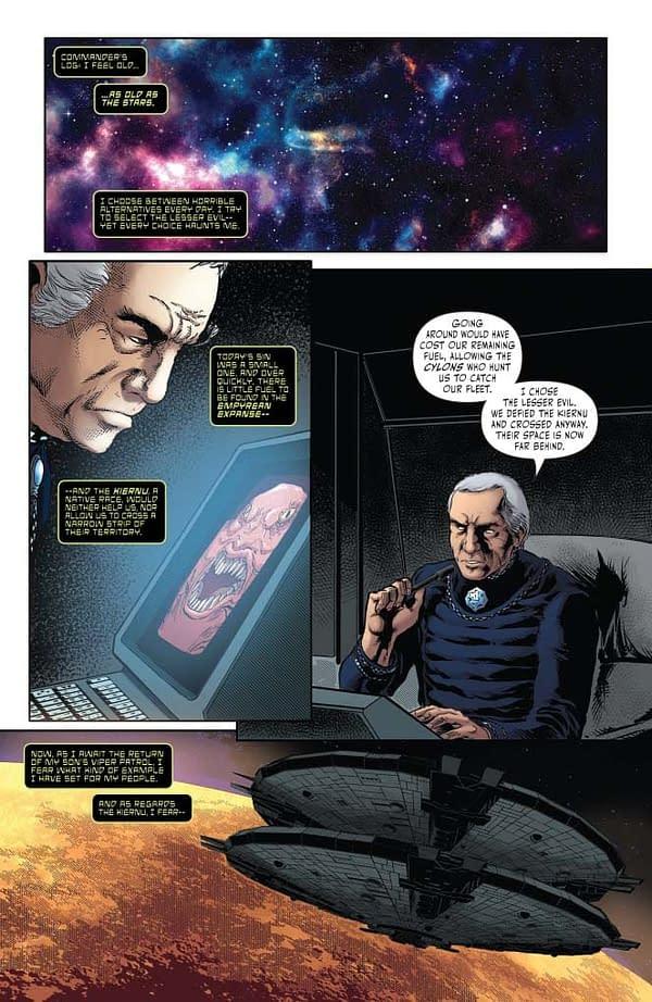John Jackson Miller's Writers Commentary on Classic Battlestar Galactica #1