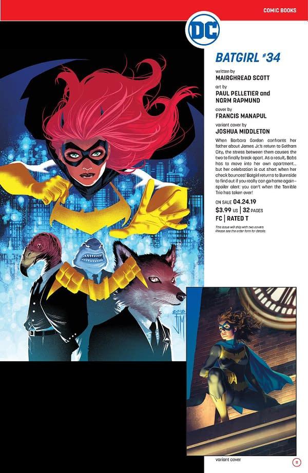 Batgirl Returns to Burnside in April