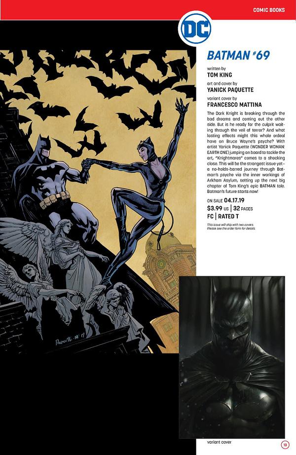 Batman Spies on Catwoman's Bachelorette Party in April