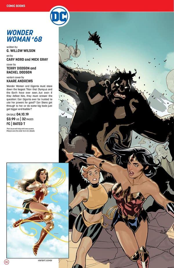 Things Get Lusty in April's Wonder Woman #69