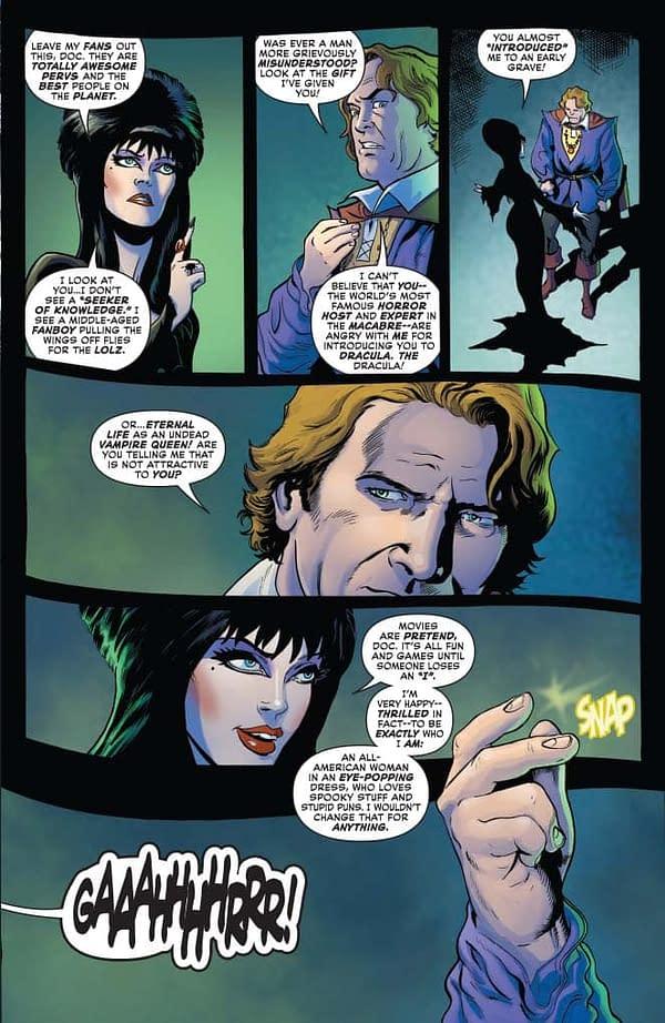 David Avallone's Writer's Commentary on Elvira: Mistress Of The Dark #4