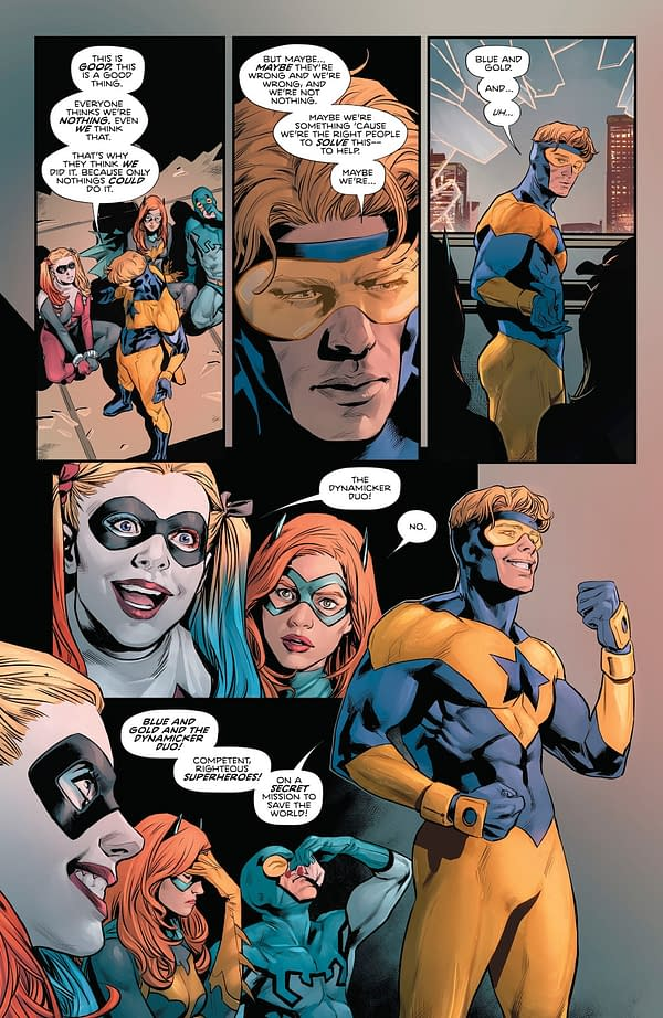 Heroes In Crisis #9 Will Show Us What Happened to Booster Gold, Blue Beetle, Black Canary and Harley Quinn