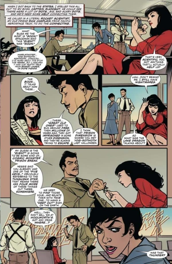 David Avallone's Writer's Commentary on Bettie Page Unbound #1 – Welcome to Hyperborea!