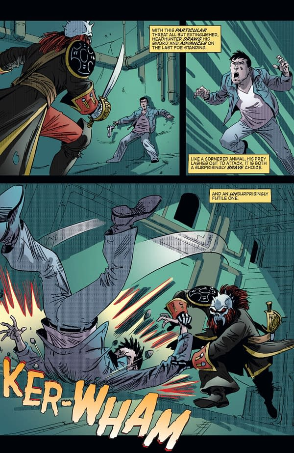 Free On Bleeding Cool: The First 19 Pages of Headhunter  #3 – Will a Homeless, Super-Powered Vigilante Make a Good Dad?