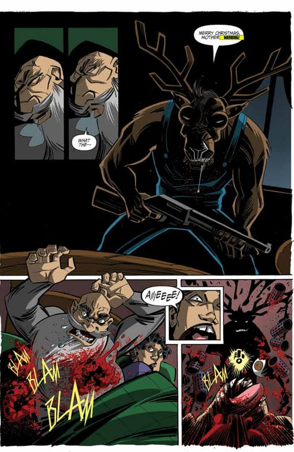 """Previewing Action Lab's """"Chainsaw Reindeer"""" Massacre Comic In Time For Christmas"""
