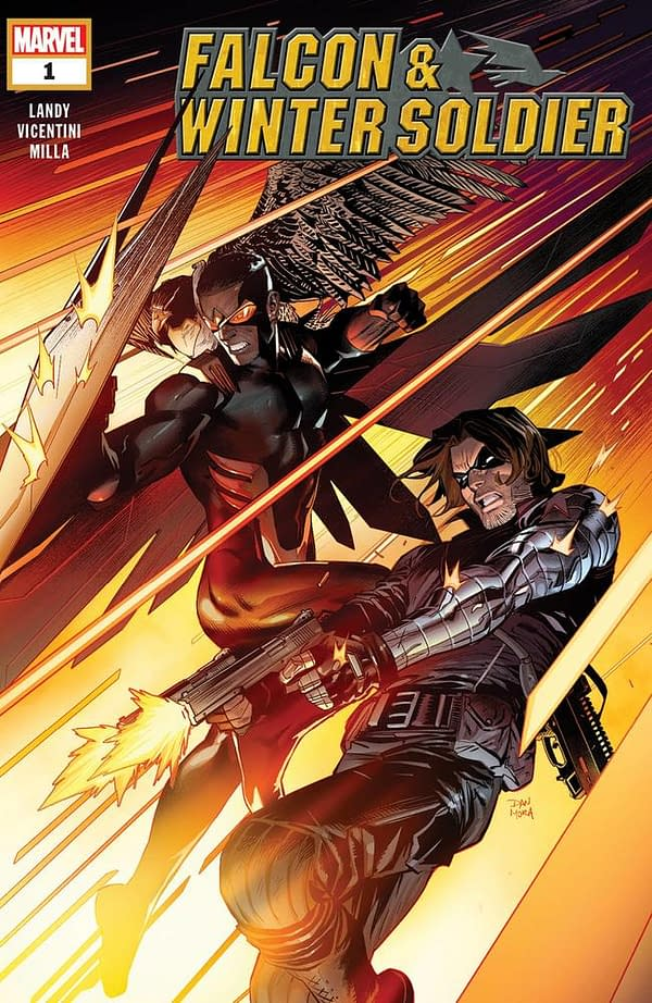 Derek Landy and Federico Vicentini Launch New Falcon & Winter Soldier Series at Marvel in February
