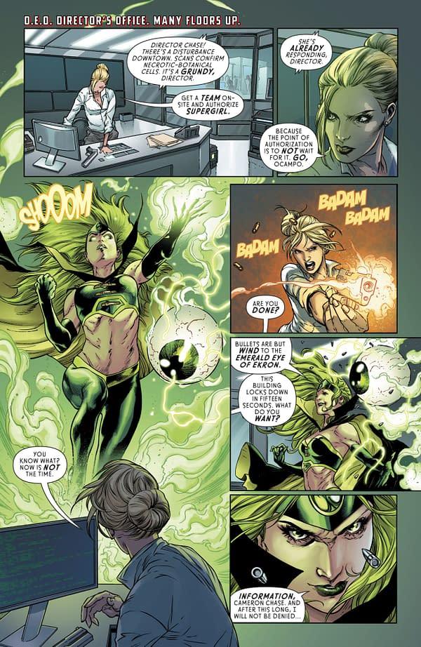 The Jim Shooter Files: His Original Sketch For Legion Of Super Heroes Villain, Th Emerald Empress