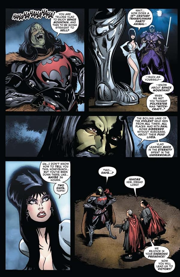 "David Avallone's Writer's Commentary on Elvira, Mistress Of The Dark #12 – ""I'm still not entirely clear if Vlad the Impaler was a Vladimir or a Vladislav"""