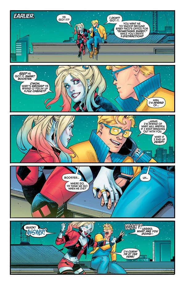 Was Heroes In Crisis About Harley Quinn Falling For Booster Gold?