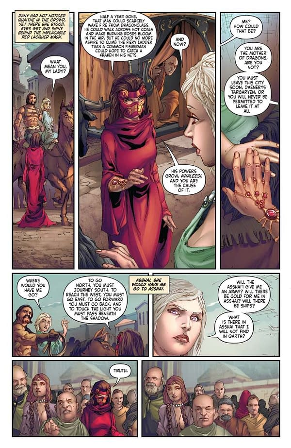 A preview page from A Clash Of Kings Vol 2 4.