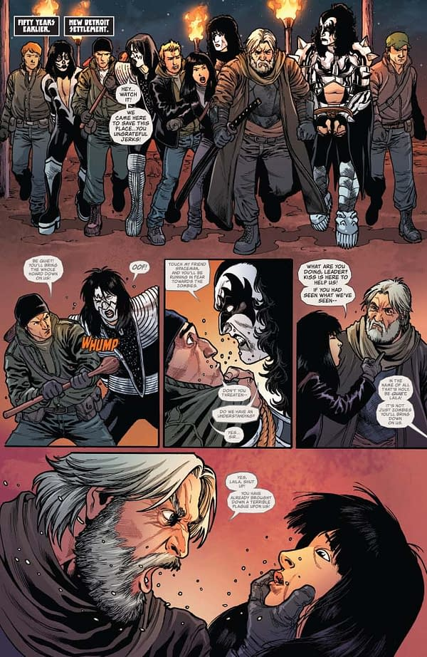 Ethan Sacks' Fire Breathing Writer's Commentary on Kiss Zombies #5.