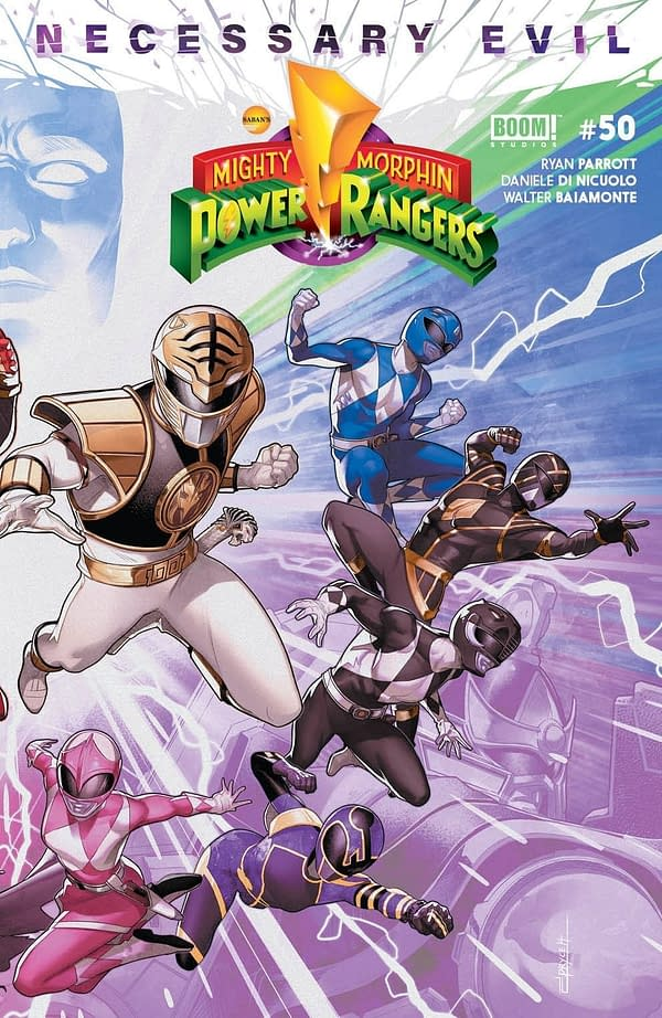 Mighty Morphin Power Rangers #50 Connecting Cover