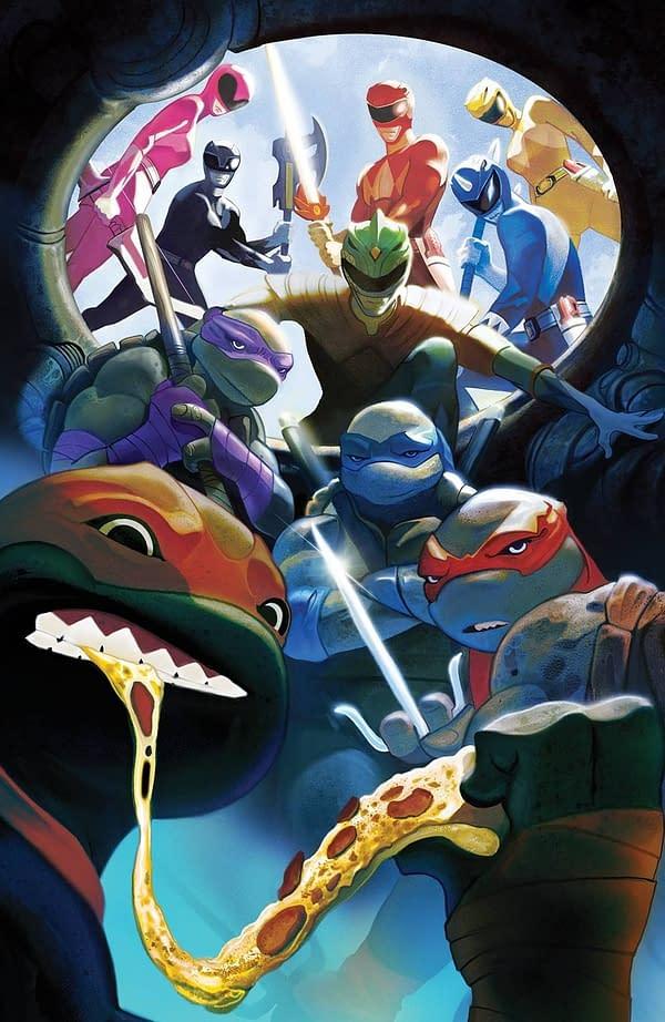 Power Rangers TMNT #5 FOC Cover