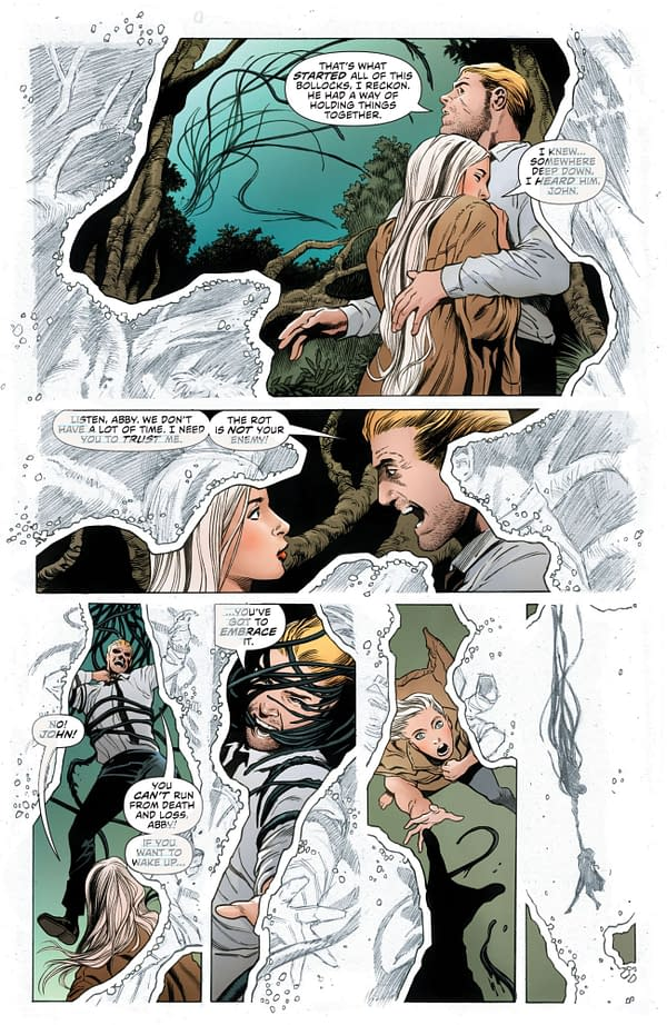 Constantine Can See His Own Pencils (Justice League Dark #22 Spoilers).