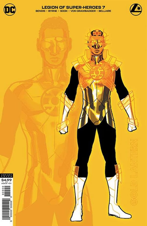 Gold Lantern Gives Legion Of Super-Heroes a 2nd Print and 1:25 Cover.