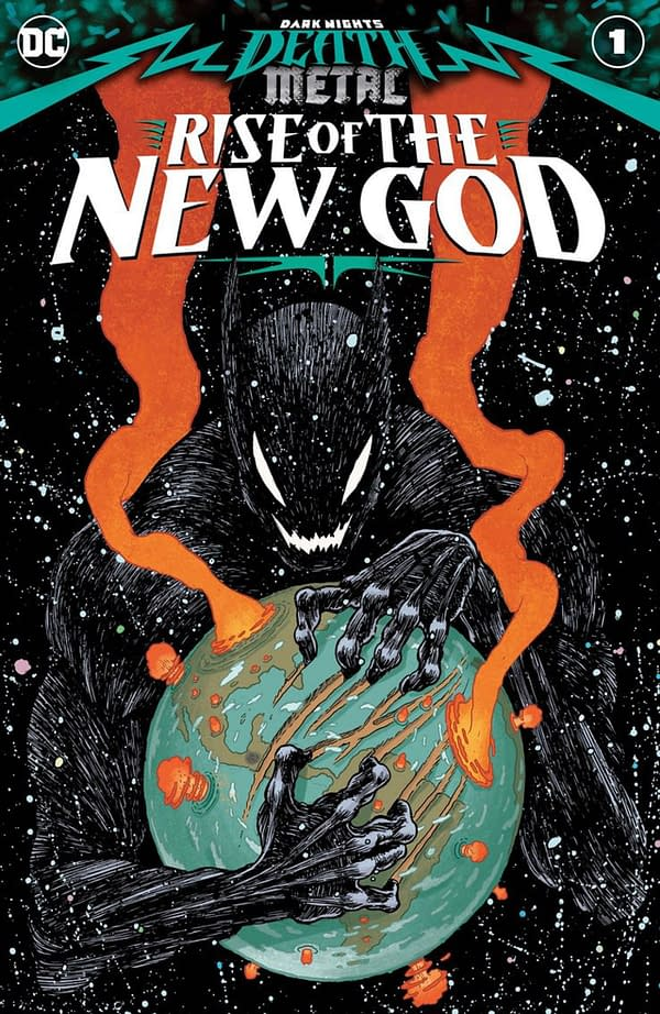 Dark Knights: Death Metal Rise of the New God #1 cover. Credit: DC Comics.