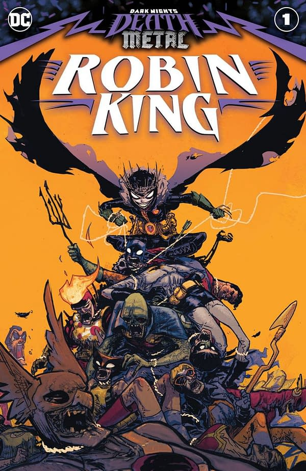 Dark Knights: Death Metal Robin King #1 cover. Credit: DC Comics.