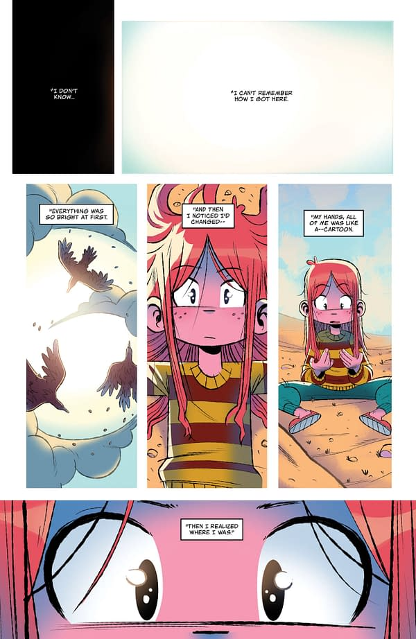 Funny Creek page, written by Rafael Scavone and Rafael Albuquerque with art by Eduardo Medeiros. Credit: ComiXology Originals and Stout Club.