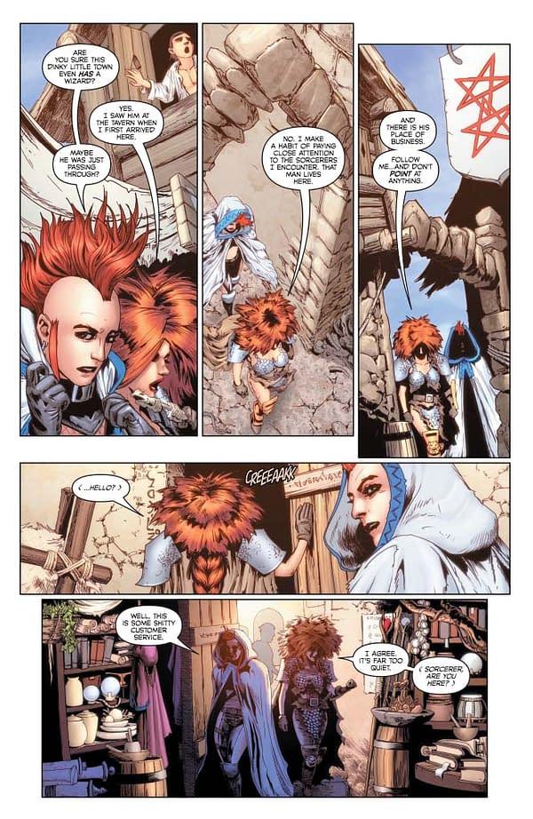 Erik Burnham's Writer's Commentary on Red Sonja: Age Of Chaos #4.