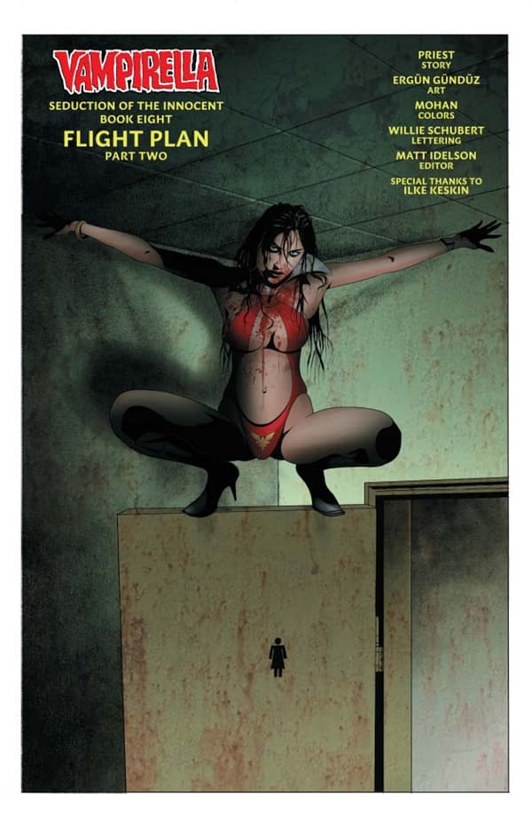 Christopher Priest's Writers Commentary on Vampirella #10