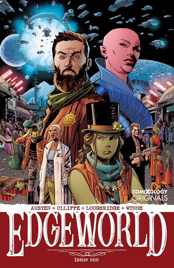 The cover to Edgeworld #1, by Chuck Austen and Patrick Olliffe.