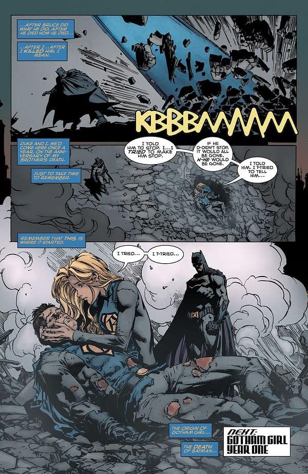 Tom King Tells Us Who Killed Batman (Spoilers)