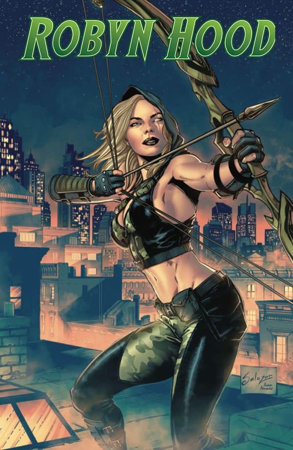 Robyn Hood: Iron Maiden cover. Credit: Zenescope