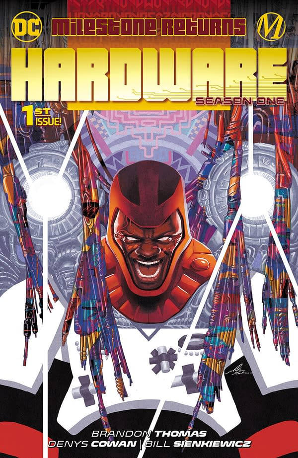 The cover to Hardware Season 1 #1 from DC Comics and Milestone
