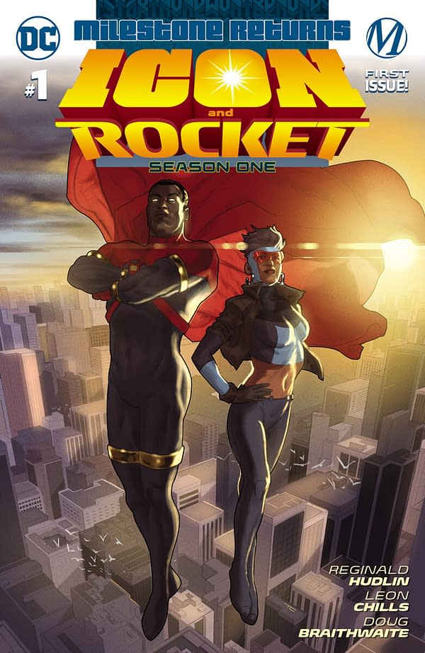 The cover to Icon and Rocket Season 1 #1 from DC Comics and Milestone.