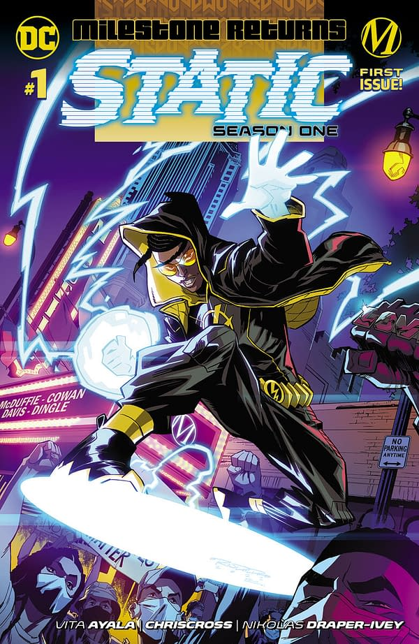 The cover to Static Season 1 #1 from DC and Milestone.