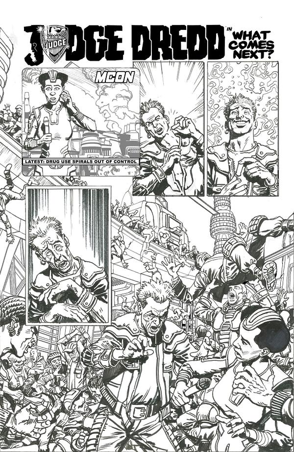 Chris Weston's Judge Dredd Art For Anthrax Graphic Novel