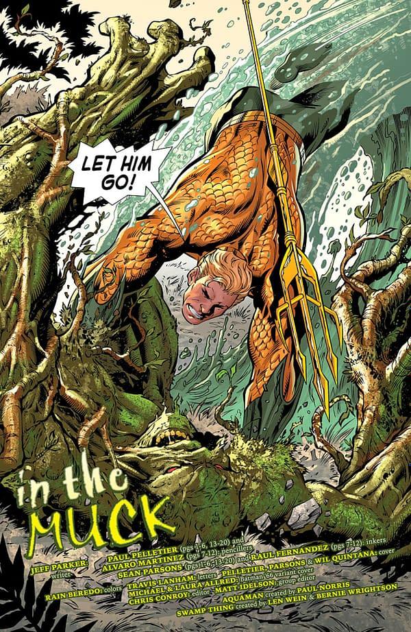 Jeff Parker Returns To Aquaman At DC Comics For A Drop