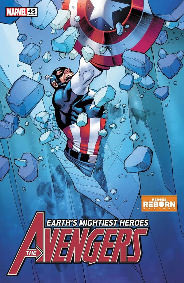 The Carlos Pacheco Heroes Reborn variant cover to Avengers #45, by Jason Aaron and Luca Maresca, in stores from Marvel Comics on Wednesday, April 21st, 2021.