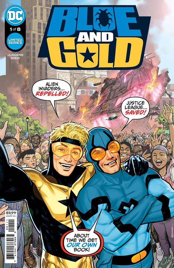 Dan Jurgens and Ryan Sook's Blue & Gold From DC Comics in July